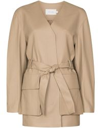 Low Classic Natural Belted Long-sleeve Jacket