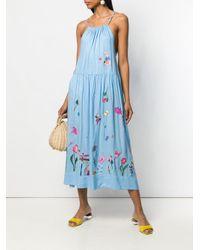 Vestito con ricamo di MIRA MIKATI in Blue
