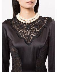 Dolce & Gabbana White Halskette mit Kunstperlen