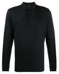 メンズ BOSS by Hugo Boss カラーブロック ポロシャツ Black