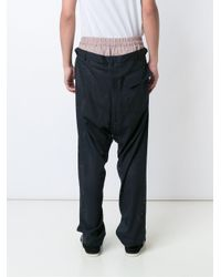 Vivienne Westwood Blue 'builder' Perforated Trousers for men