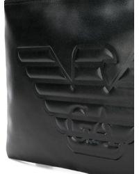 Emporio Armani ロゴ クラッチバッグ Black