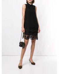 N°21 デコラティブ レースドレス Black