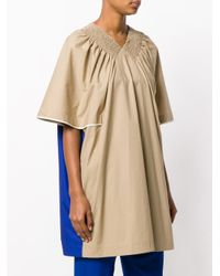 Marni Natural Pleated Ruched Blouse
