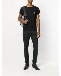 Saint Laurent Black Cat Martini Print T-shirt for men