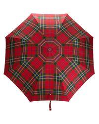 Зонт В Клетку Alexander McQueen для него, цвет: Red