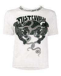 Just Cavalli ロゴ Tシャツ Multicolor