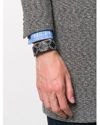 Valentino Black Valentino Garavani Logo Bracelet for men