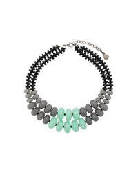 Emporio Armani - Gray Double Stranded Necklace - Lyst