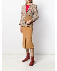 Victoria Beckham プリーツ ミディスカート Multicolor