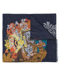 Écharpe imprimée Etro pour homme en coloris Blue