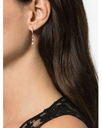 14kt Rose Gold Diamond Drop Earrings Jacquie Aiche, цвет: Metallic