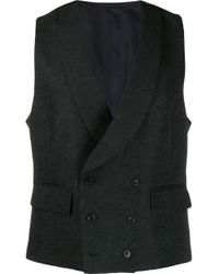 Chaleco con doble botonadura Gabriele Pasini de hombre de color Black