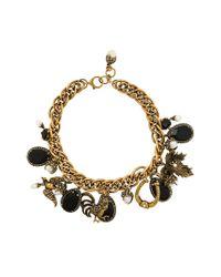 Alexander McQueen Metallic Charm Necklace