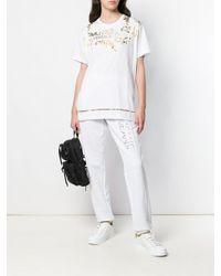 Versace Jeans Klassische Jogginghose in White für Herren