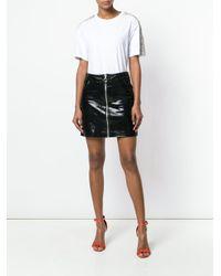 Amen White Gemstone Embellished Short Sleeve T-shirt
