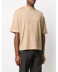 メンズ Jil Sander バージンウール Tシャツ Natural
