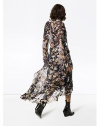 Zimmermann Midnight Wisteria フローラル クレープドレス Blue