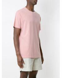 メンズ Osklen Stone Coroa プリント Tシャツ Pink