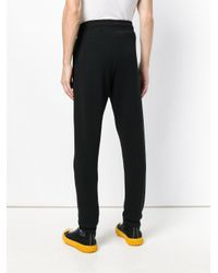 Moschino Black Couture Track Pants for men