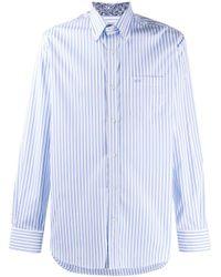 Paul & Shark Blue Long Sleeve Striped Shirt for men