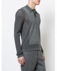 メンズ Maison Margiela ニット ポロシャツ Gray