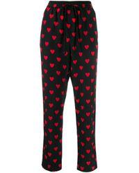 RED Valentino ハートプリント パンツ Multicolor