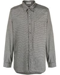 メンズ Engineered Garments ハウンドトゥース シャツ Gray