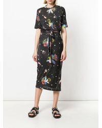 Henrik Vibskov Black Mixed Print Midi Dress