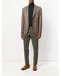 Boglioli - Natural Houndstooth Pattern Blazer for Men - Lyst