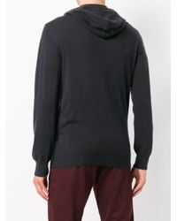 N.Peal Cashmere Blue Hooded Zipped Cardigan for men