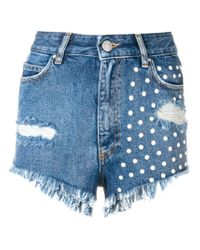 Don't Cry Blue Denim Shorts