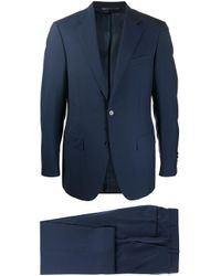 Canali Blue Single-breasted Suit for men