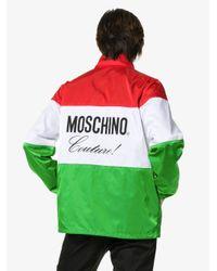 Moschino Jack Met Italiaanse Vlag En Logo in het Green voor heren
