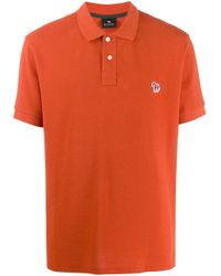 メンズ PS by Paul Smith ポロシャツ Orange