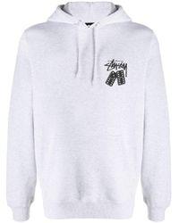 メンズ Stussy ロゴ パーカー Gray
