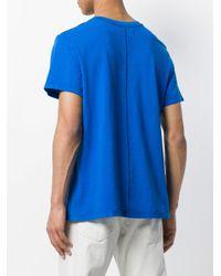 Eckhaus Latta Blue Classic Short-sleeve T-shirt for men