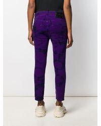 Pantalon imprimé tie dye DSquared² en coloris Purple