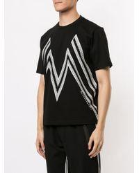 Camiseta con estampado gráfico Neil Barrett de hombre de color Black