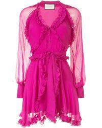 Alexis ラッフルトリム ドレス Pink