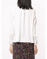 Chemise à col noué Loveless en coloris White