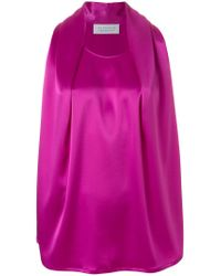 Gianluca Capannolo Pink Pleated Front Tank Top