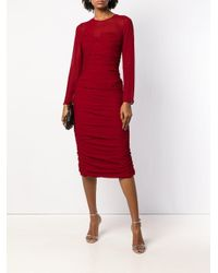Max Mara Asymmetrische Midi-jurk in het Red