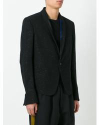 Haider Ackermann Black Glitter Effect Boxy Blazer for men