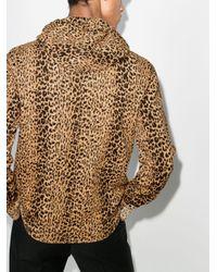 Худи С Леопардовым Принтом Saint Laurent для него, цвет: Brown
