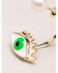 Delfina Delettrez - Green Eye And Pearl Earring - Lyst