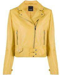 Pinko ライダースジャケット Yellow