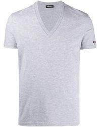 メンズ DSquared² ロゴ Tシャツ Gray