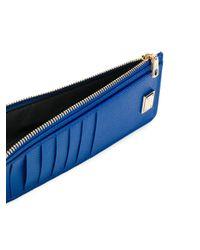 Zipped card holder Dolce & Gabbana en coloris Blue