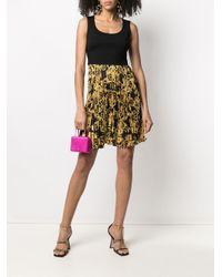 Versace Jeans バロッコプリント ノースリーブドレス Black